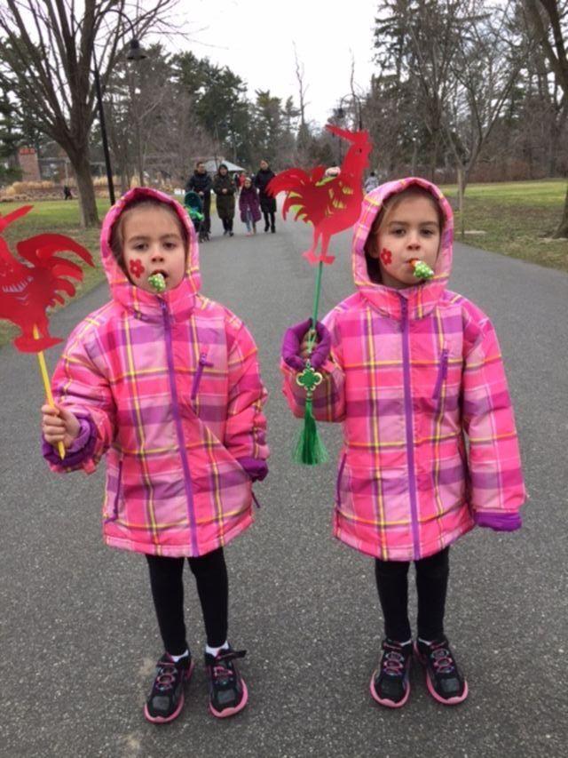 Hannah and Hailey Vidro at Chinese New Years