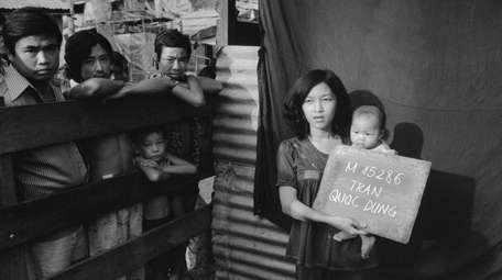Vietnamese refugees hoping to go to the United