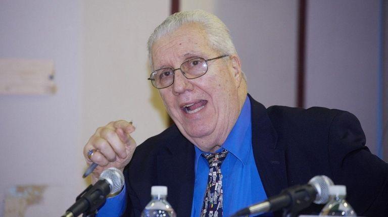 New York State Senator Carl Marcellino speaks during