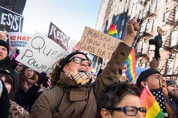 Thousands rallied in front of the Stonewall Inn