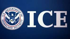 The Immigration and Customs Enforcement (ICE) logo is