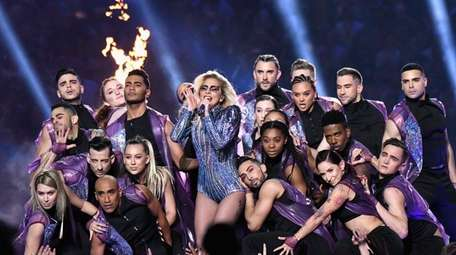 Lady Gaga performed her biggest hits including
