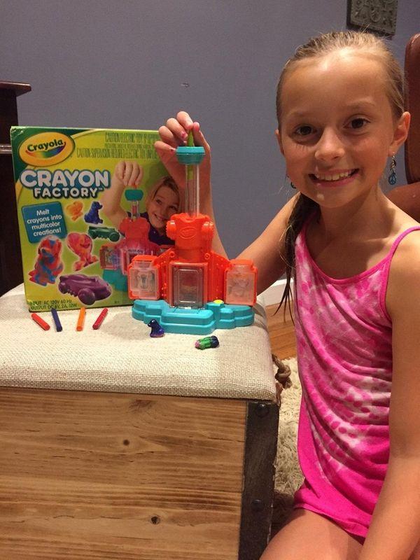 Kidsday reporter Jordan Giorlando with the Crayola Crayon