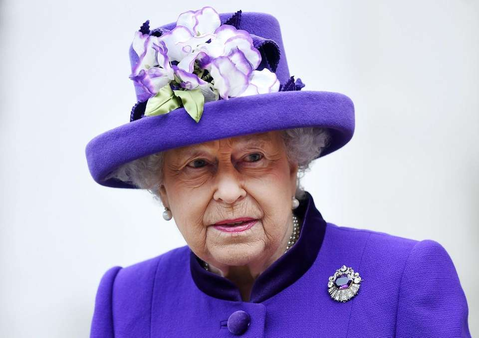 Queen Elizabeth II departs Westminster Abbey after attending