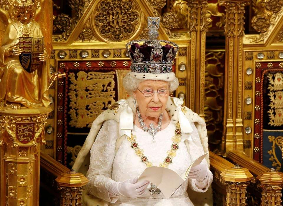Queen Elizabeth II reads the Queen's Speech from