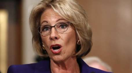 Education Secretary-designate Betsy DeVos testifies on Capitol Hill