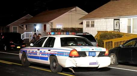 Two Suffolk County police officers were treated for