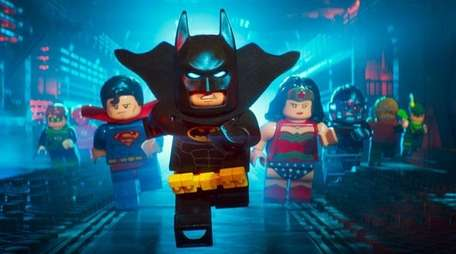 Batman (Will Arnett) with members of the Justice