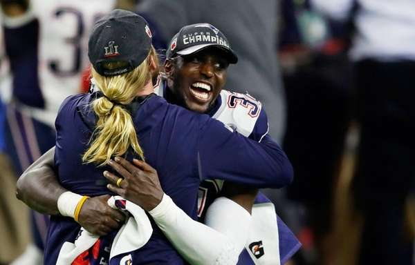 Devin McCourty of the New England Patriots celebrates