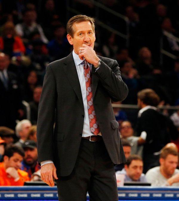 Knicks head coach Jeff Hornacekin the second half