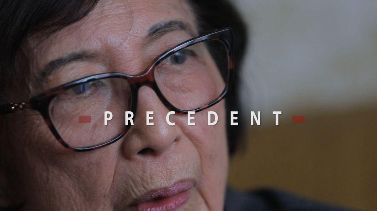 Internment survivors Mitsue Salador and Madeleine Sugimoto, along