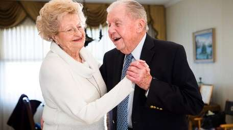 Edward Palkot, 103, dances in the living room