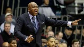 Georgetown head coach John Thompson III yells to
