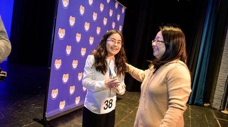 Rika Mizoguchi, from H.B. Thompson Middle School in