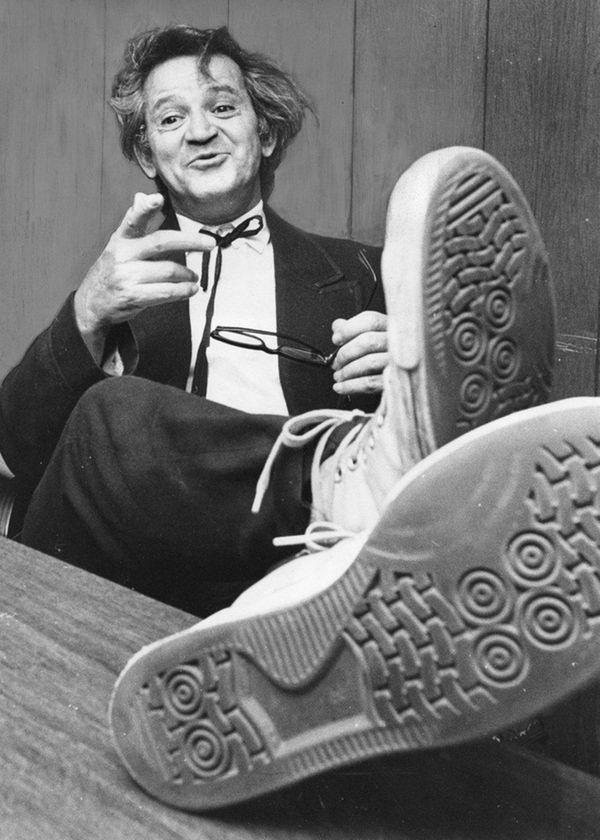 Comic Irwin Corey, shown performing in 1970.