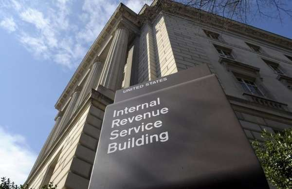 The exterior of the Internal Revenue Service building