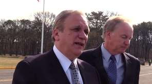 Nassau County Executive Edward Mangano leaves federal court