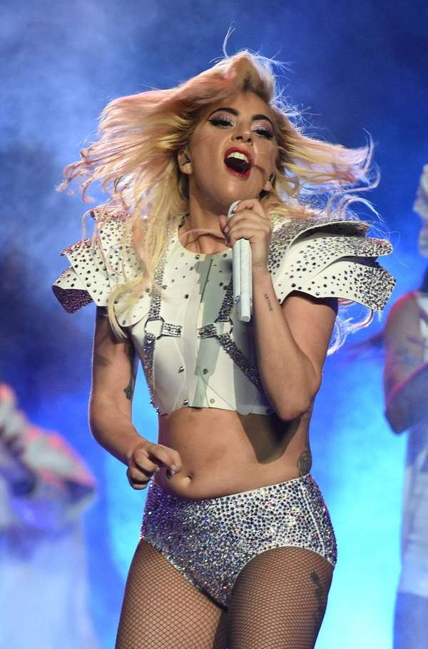 Lady Gaga performs during the halftime show of