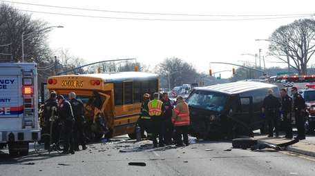 Nassau police said a van and a mini-school