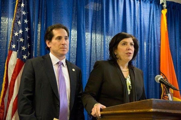 Nassau District Attorney Madeline Singas and State Sen.