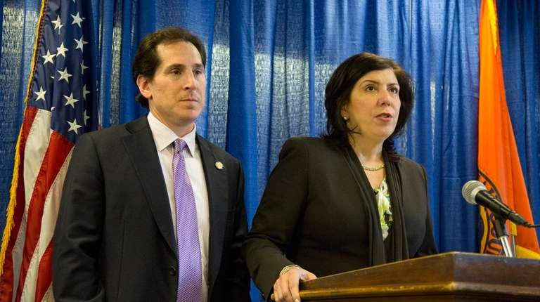 Nassau District Attorney Madeline Singas and State Sen.