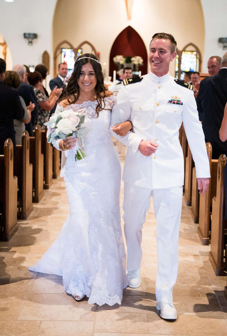 Abad-Moser Ensign Danielle Elizabeth Abad and Lieutenant Junior