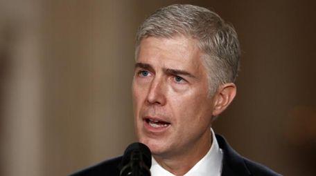 Supreme Court Justice nominee Neil Gorsuch speaks in