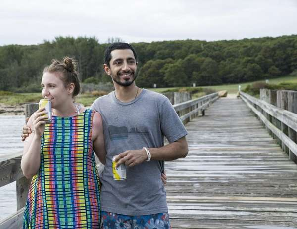 Lena Dunham and Riz Ahmed in HBO's final
