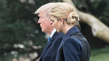 President Donald Trump and his daughter Ivanka on