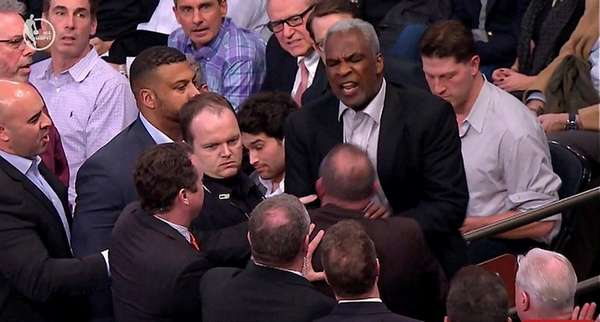 Former Knick Charles Oakley gets into an altercation
