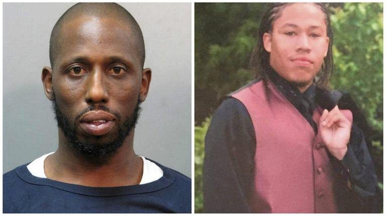 Hamilton Croft, left, 38, of Hewlett, was arrested