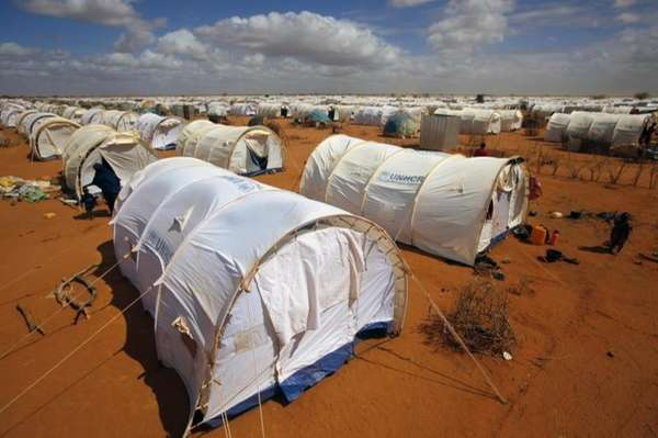 Tents are seen at the UNHCR's Ifo Extension