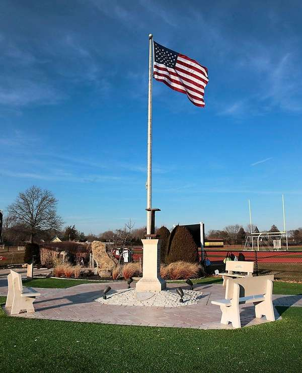 The Sept. 11, 2001, memorial at Commack High