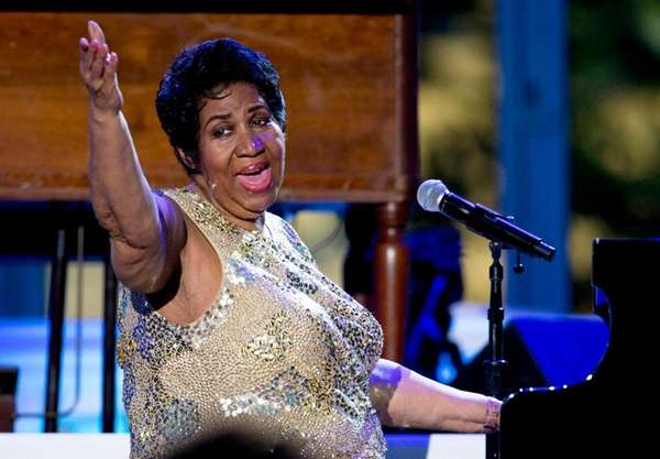 Aretha Franklin performs at the White House on