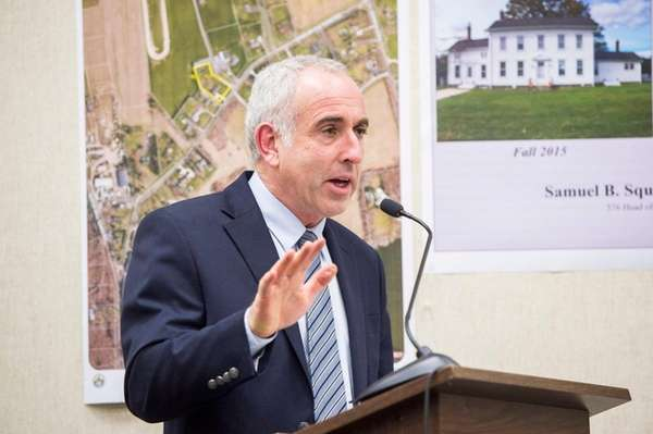 Southampton Town Supervisor Jay Schneiderman on April 12,