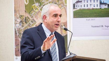 Southampton Town Supervisor Jay Schneiderman on April 12,