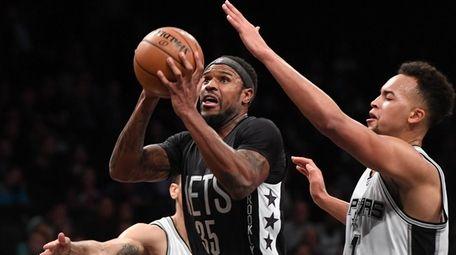 Brooklyn Nets forward Trevor Booker makes his shot