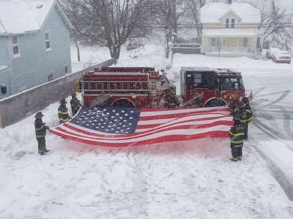 The Islip Fire Department said its members banded