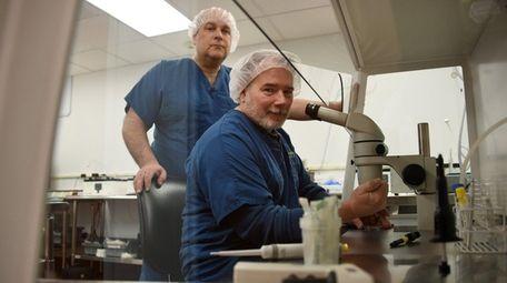 Gold Coast IVF Medical Director Steven Palter, left,