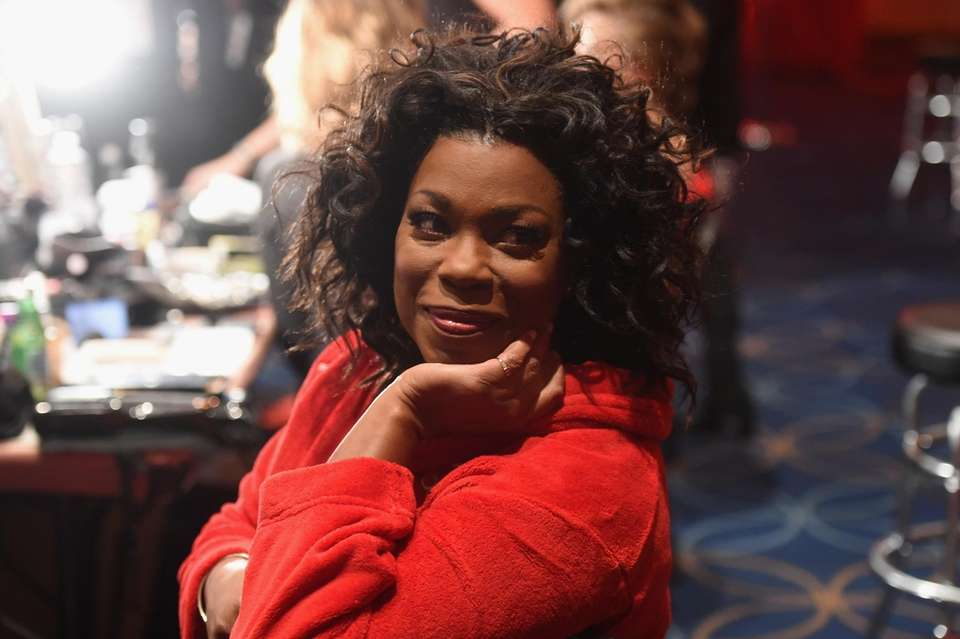 Lorraine Toussaint prepares backstage for the American Heart