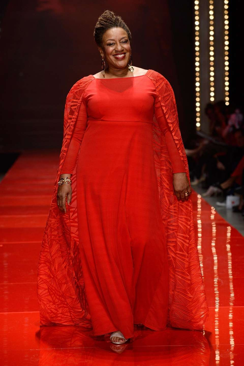 Actress C.C.H. Pounder walks the runway during the