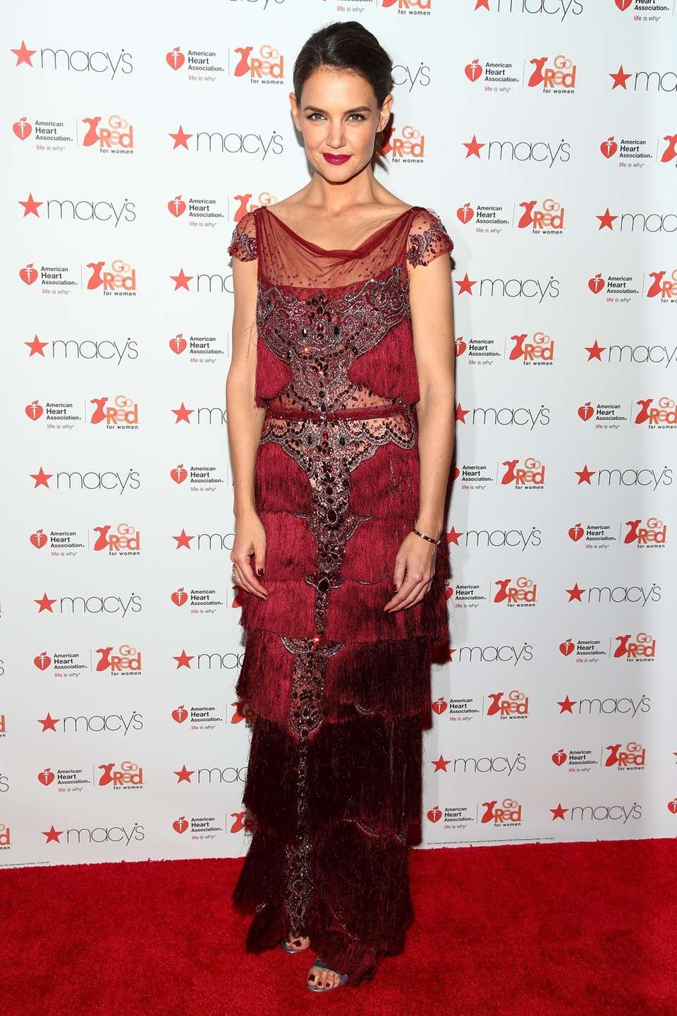 Katie Holmes attends the American Heart Association Go