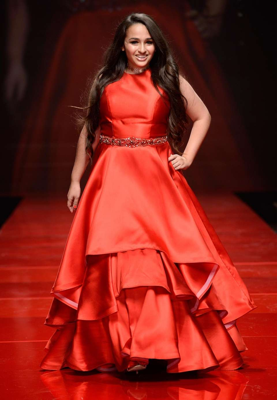 Reality star Jazz Jennings walks the runway the