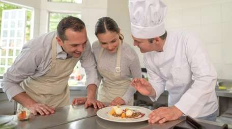 Take a couples cooking class for Valentine's Day,