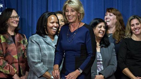 Betsy DeVos, U.S. secretary of education, speaks to