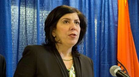 Nassau District Attorney Madeline Singas on Feb. 7,