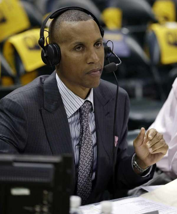 Former Indiana Pacers star Reggie Miller, who works