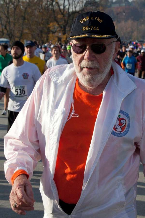 McNelly competes in the 2010 Harrisburg Marathon in