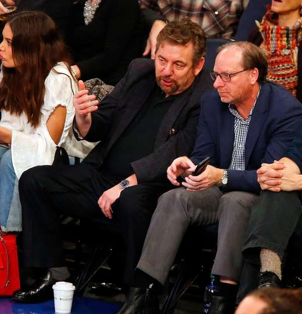 Knicks owner James Dolan watches his team play