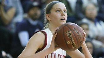 Glen Cove's Grace Brady takes a shot against